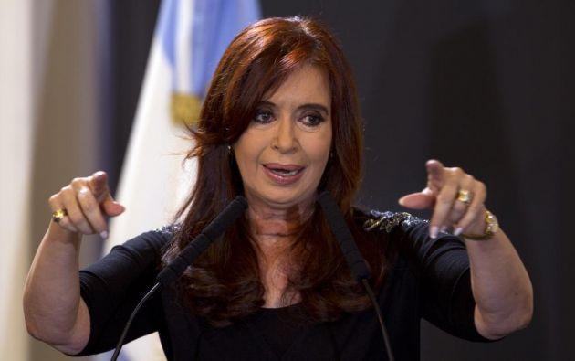 """""""Y si miramos al Estado, ¡ay, dios mío!, la deuda externa en dólares contraída en apenas tres años es más grande que la que Néstor recibió 'defaulteada'"""", dijo Fernández. Foto: AFP"""