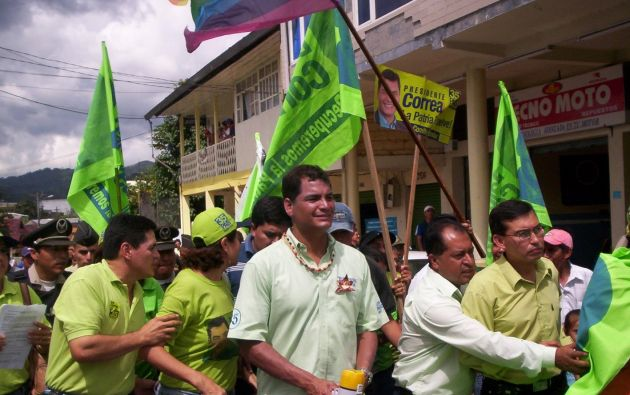 Campaña presidencial en el 2006. Foto: ecoamazonico.com