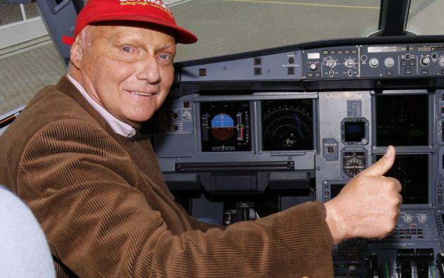 Su segunda pasión fue la aviación civil. Pionero del chárter privado, creó en 1979 la compañía Lauda Air. Foto: AFP