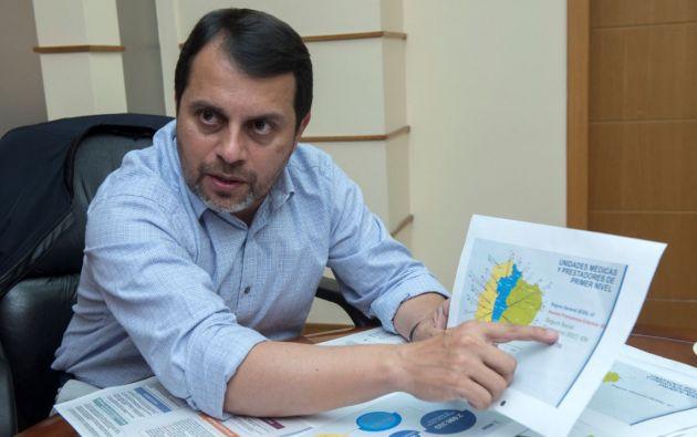 Paúl Granda (Cuenca, 1972) preside el consejo directivo del Instituto Ecuatoriano de Seguridad Social (IESS) desde diciembre de 2018. Foto: Vistazo.