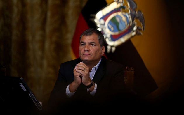 """""""Yo podría ir de vicepresidente o a la Asamblea"""", dijo Correa. Foto: Reuters"""