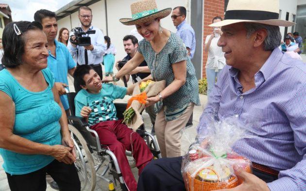 """""""La discapacidad no es incapacidad, sino parte de la maravillosa diversidad en la que vivimos"""", sostuvo este lunes el presidente Lenín Moreno. Foto: Presidencia."""