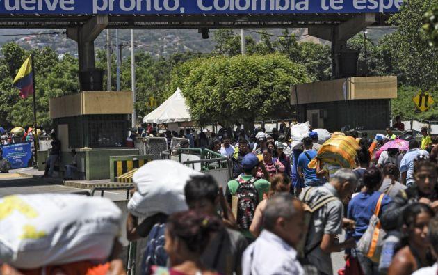 Según las Naciones Unidas, desde 2015 tres millones de venezolanos han huido de la peor crisis económica y política en la historia del país. Foto: AFP