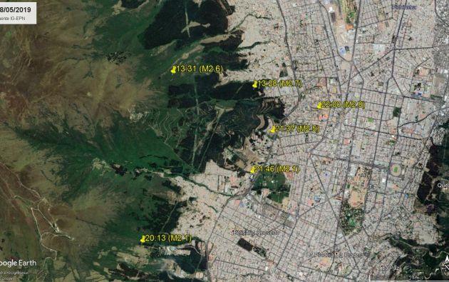 Los epicentros se ubican en el Norte de Quito.