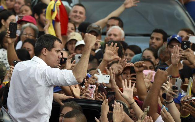 Desde que se proclamó mandatario encargado el pasado 23 de enero, Guaidó encabeza la llamada Operación Libertad. Foto: AFP.