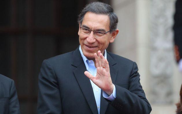 El presidente peruano, Martín Vizcarra, se puso a disposición de la fiscalía. Foto: AFP.