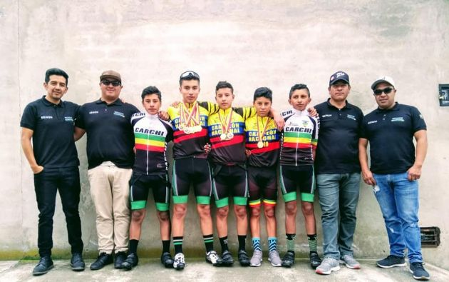 En seis meses ya tuvieron campeones nacionales infantiles, que se suman a los logros de los ciclistas jóvenes más veteranos de Carchi.