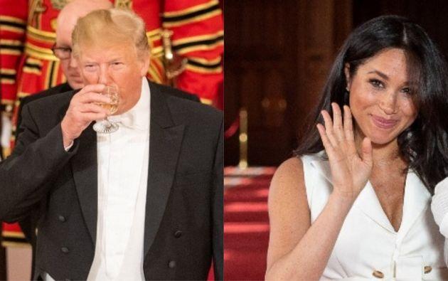 """La polémica surgió después de que fuera divulgada una entrevista, en la cual se oye a Trump usar esa palabra, en inglés """"nasty"""", al referirse a Markle. Fotos: AFP / Reuters"""