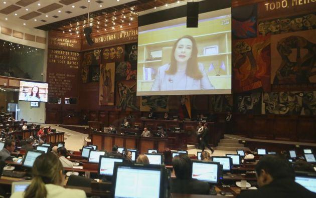 """""""Todas mis actuaciones fueron consultadas con el presidente de la República (Lenín Moreno)"""", dijo Espinosa.  Foto: Flickr Asamblea"""