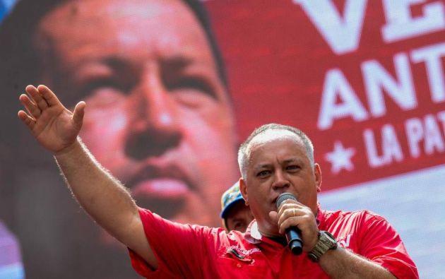 Diosdado Cabello es el número dos del chavismo. Foto: AFP