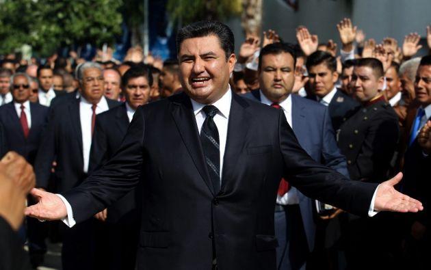 Naasón Joaquín García fue detenido en Estados Unidos acusado de abuso de menores. Foto: AFP.