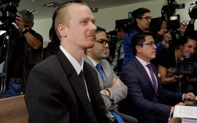 Ola Bini, amigo de Julian Assange y en prisión por su supuesta participación en una red de espionaje. Foto: AFP