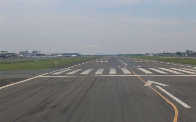 Guayaquil.- Pista del aeropuerto internacional José Joaquín de Olmedo.