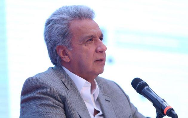 El presidente de Ecuador, Lenín Moreno, aseguró este jueves que respeta la decisión que tomó la Corte Constitucional para abrir el proceso de legalización del matrimonio homosexual. Foto: Presidencia.