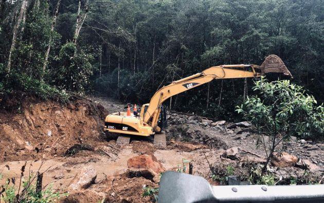 5 provincias son las más afectadas por intensas lluvias. Foto: @ObrasPublicasEc