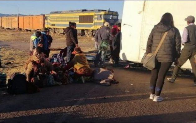 El accidente se registró la tarde del jueves por Challapata, un poblado ubicado en el departamento andino de Oruro.