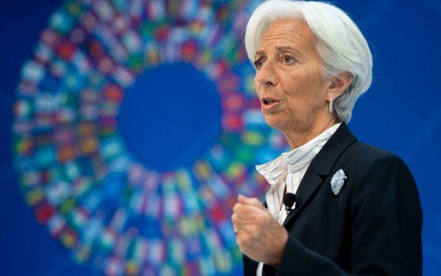 Lagarde, abogada de formación y con una amplia experiencia política, no es economista. Foto: AFP