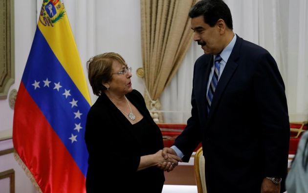 """La situación es """"compleja"""", admite Bachelet, que pudo entrevistarse con los principales protagonistas de la crisis y con damnificados. Foto: Reuters"""
