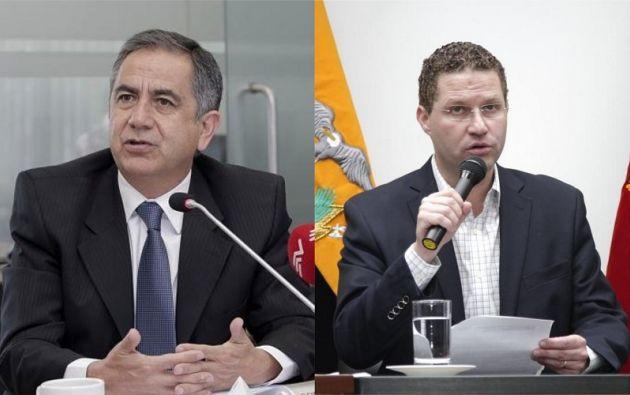 Augusto Barrera y Mauricio Rodas, exalcaldes de Quito.