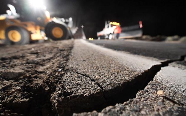 os temblores fueron sentidos incluso en Los Ángeles y las Vegas, pero su epicentro se situó en una zona de escasa población. Foto: AFP.