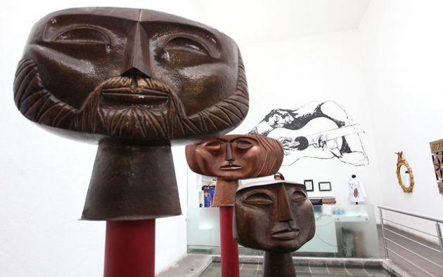 Una parte de la obra de Oswaldo Guayasamín se exhibe en la Capilla del Hombre en Quito. Foto: Flickr El Ciudadano.