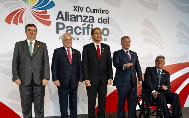 México, Chile, Perú y Colombia son miembros activos de la Alianza. Ecuador participó como país invitado. Foto: Alianza del Pacífico.