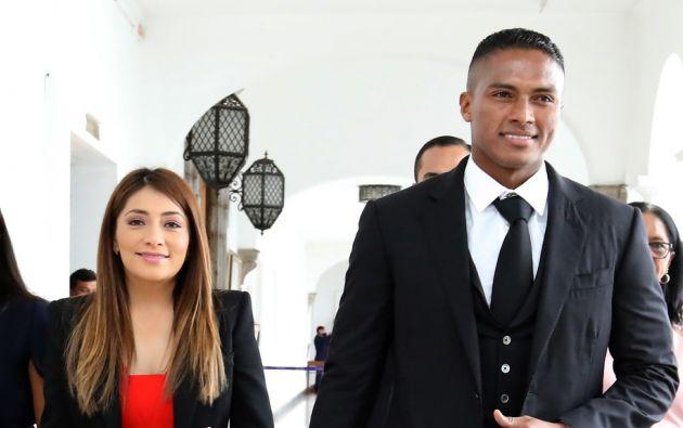 Zoila Meneses y Antonio Valencia se casaron en Quito. Foto: Flickr Presidencia.
