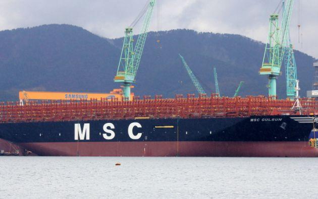 El MSC GÜLSÜN, que es el primero de once barcos que la firma italiana encargó al astillero coreano.