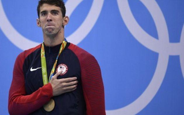 Michael Phelps en los Juegos Olímpicos de Río de Janeiro 2016. Foto: AFP.
