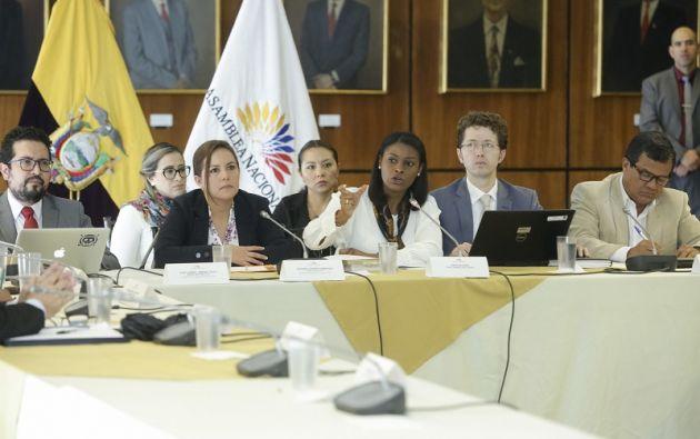 La fiscal general, Diana Salazar, durante su comparecencia ante la Comisión de la Comisión de Fiscalización.