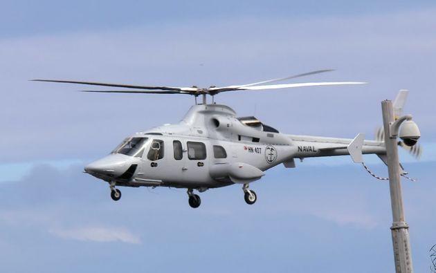 Un helicóptero que sirve para el transporte de pacientes entre las islas Galápagos y el Ecuador continental. Foto: Flickr Ministerio de Salud.