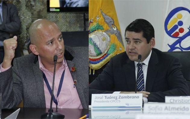 El consejero Walter Gómez y el presidente del Consejo de Participación Ciudadana y Control Social, José Carlos Tuárez.