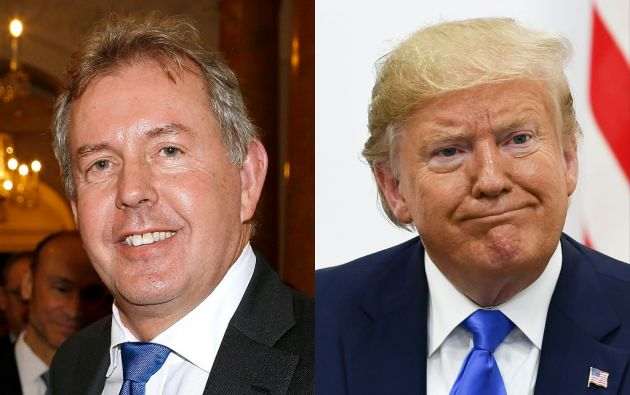 La decisión del embajador Kim Darroch (foto) fue interpretada por algunos en Londres como una rendición ante la acosadora actitud de Trump. Foto: AFP.