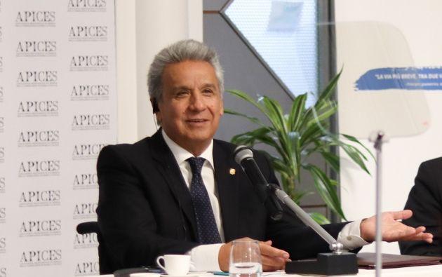 """""""Amigos inversionistas. Ecuador es un país con seguridad jurídica"""", dijo Moreno."""