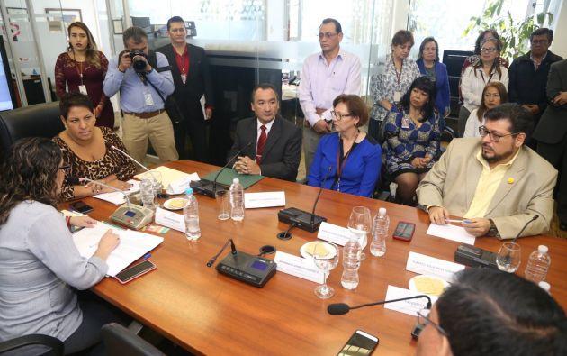 A pesar del pedido, Carrión no dio paso a la moción planteada por Gómez. Foto: Flickr Asamblea