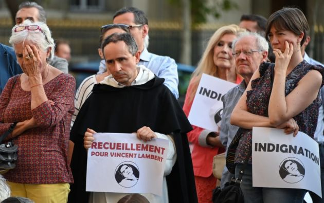 El caso de Vincent Lambert, quien estuvo en estado vegetativo desde 2008, ha dividido amargamente a su familia y a Francia. Foto: AFP.