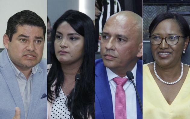 El presidente del CPCCS, José Tuárez; los consejeros Victoria Desintonio y Walter Gómez; y la vicepresidenta, Rosa Chalá, fueron denunciados en la Fiscalía.