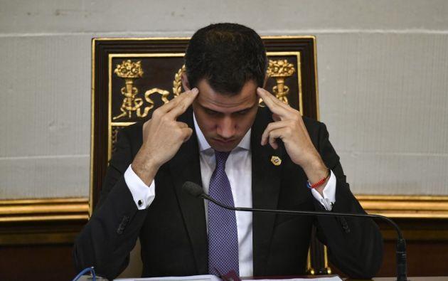 El viernes Guaidó había denunciado la detención de los guardaespaldas. Foto: AFP