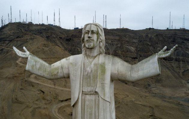 El Cristo del Pacífico fue inaugurado el 29 de junio de 2011, y financiado por la constructora brasileña Odebrecht.  Foto: AFP