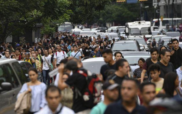 Venezuela, sumida en una crisis política y humanitaria, sufre un debacle de su economía. Foto: AFP