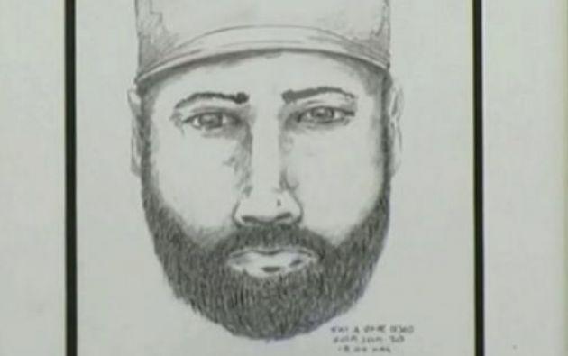 El bosquejo que ha realizado la policía canadiense del posible asesino serial.