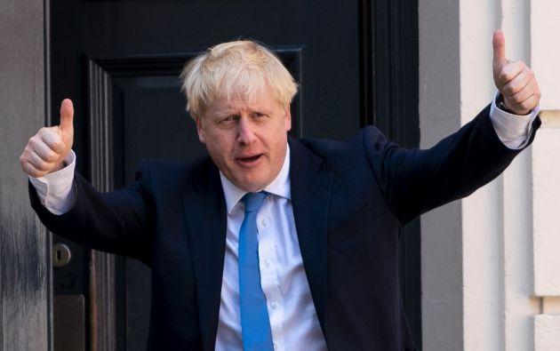 """Johnson prometió cumplir con el """"brexit"""" el 31 de octubre. Foto: AFP"""