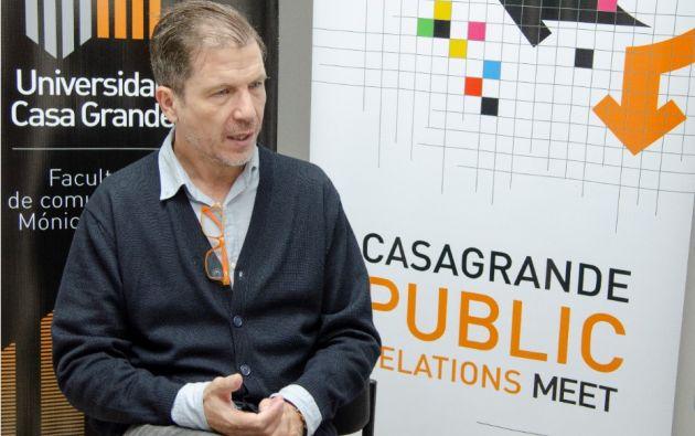Guayaquil. El experto español en comunicación digital, Jesús Hernández, explicó las ventajas que todavía no son aprovechadas de la transformación digital.