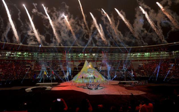 Lima.- La sede de la ceremonia de inauguración fue el Estadio Nacional. (AFP)