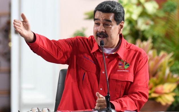 """""""Iván Márquez y Jesús Santrich son bienvenidos a Venezuela"""", dijo Maduro. Foto: AFP"""
