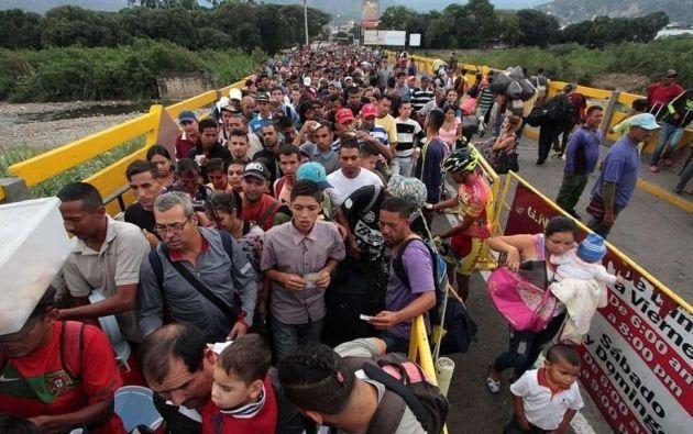 Más de un millón de venezolanos han ingresado a Ecuador en los últimos dos años. Foto: AFP.