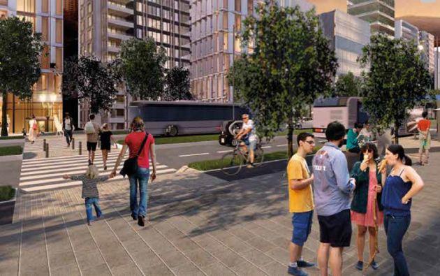 La propuesta de la UDLA: Espacios más amigables y con todos los servicios atraerían a la gente para recuperar la zona en deterioro.