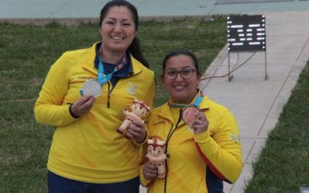 Diana Durango y Andrea Pérez ganaron medallas de plata y bronce. Además, las dos clasificaron para los Juegos Olìmpicos. Foto: Secretaría del Deporte.