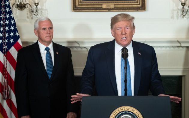 """""""Tenemos que sacar algo bueno, si no GRANDE, de estos acontecimientos trágicos"""", escribió Trump. Foto: AFP"""