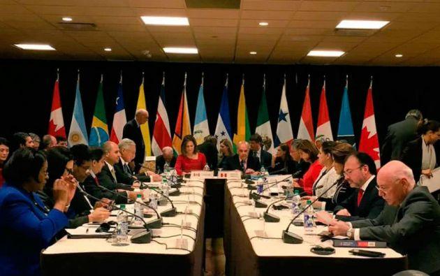 El Grupo de Lima fue creado en agosto de 2017 en la capital peruana para definir una postura común frente la crisis venezolana. Foto: archivo AFP
